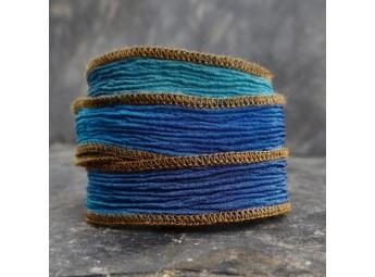 Lien en soie Autumn Blue